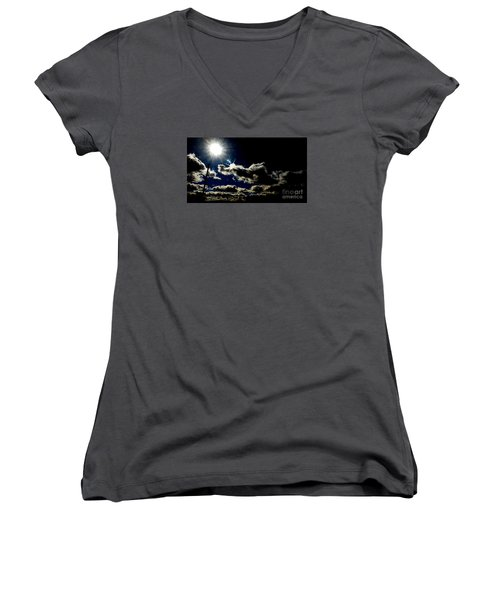 Heinlein's Horizon Women's V-Neck T-Shirt (Junior Cut) by Jesse Ciazza
