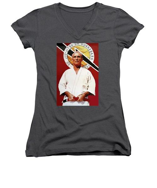 Helio Gracie - Famed Brazilian Jiu-jitsu Grandmaster Women's V-Neck T-Shirt