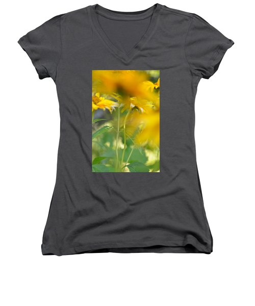 Heliopsis Blur Women's V-Neck T-Shirt