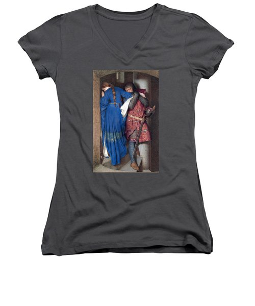 Hellelil And Hildebrand Or The Meeting On The Turret Stairs Women's V-Neck