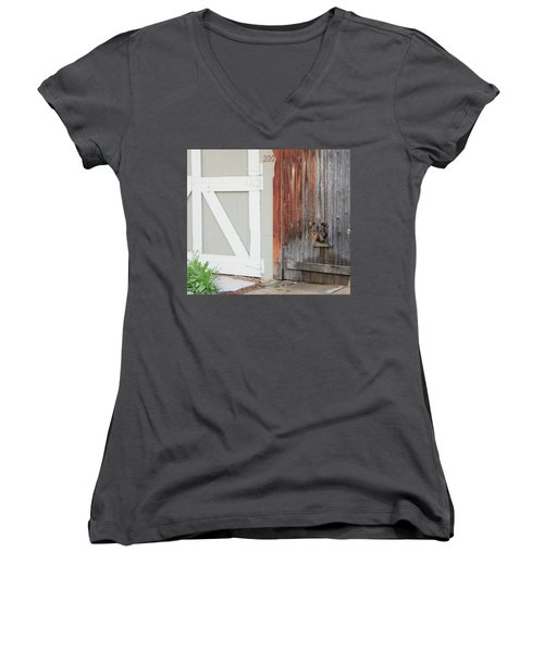 Women's V-Neck T-Shirt (Junior Cut) featuring the photograph Hello, Comet by Christin Brodie