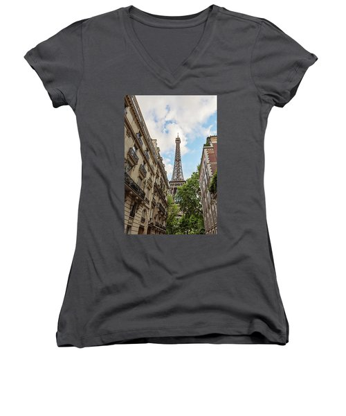 Hello, Paris Women's V-Neck (Athletic Fit)