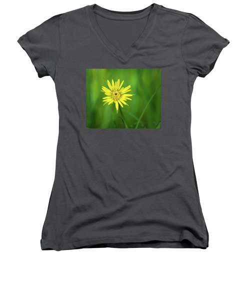 Women's V-Neck T-Shirt (Junior Cut) featuring the photograph Hello Wild Yellow by Bill Pevlor