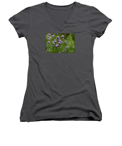 Herb Garden. Women's V-Neck (Athletic Fit)