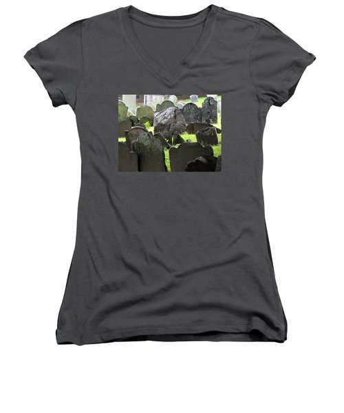 Here Lyeth Women's V-Neck (Athletic Fit)