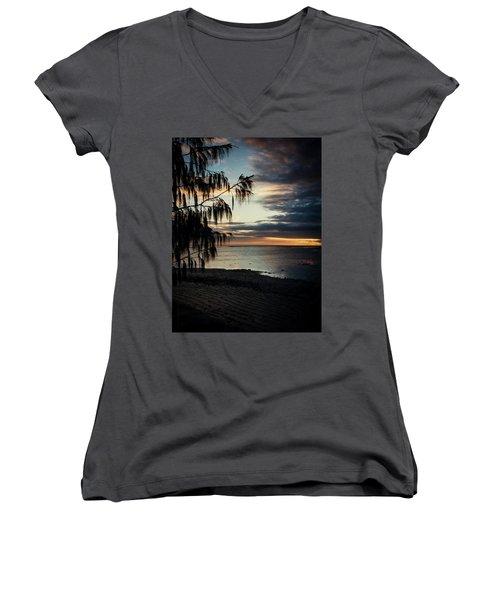 Heron Island Sunset  Women's V-Neck