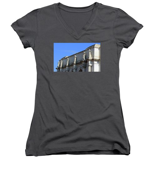 Hey Is That Joe Biden One Statue Said To Another At Union Station Women's V-Neck T-Shirt