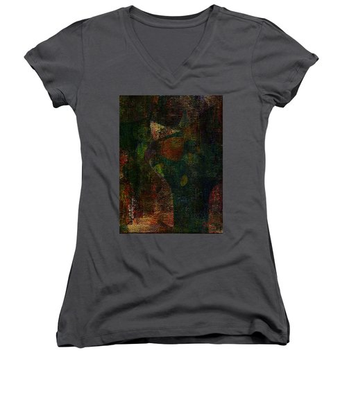 Hidden Women's V-Neck T-Shirt (Junior Cut) by The Art Of JudiLynn