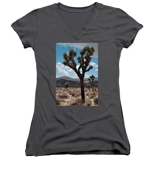 Hidden Valley Joshua Tree Portrait Women's V-Neck