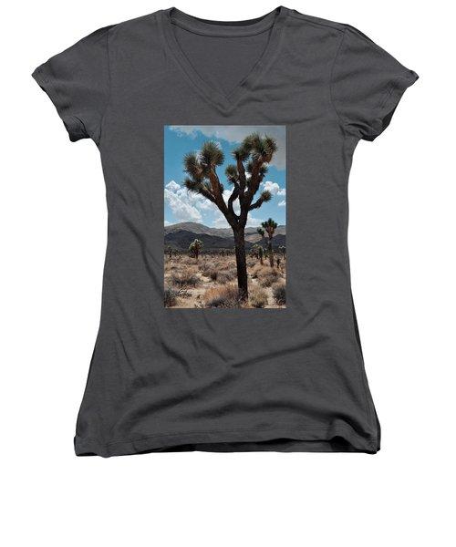 Hidden Valley Joshua Tree Portrait Women's V-Neck T-Shirt