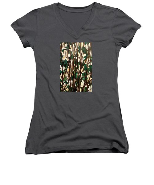 Hiding In Plain Site Women's V-Neck T-Shirt (Junior Cut) by Lisa Aerts