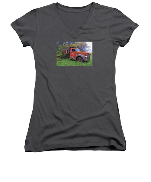 Hiding In The Bushes Women's V-Neck (Athletic Fit)