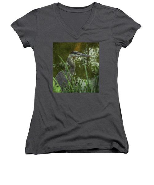 Hiding In The Grass Women's V-Neck