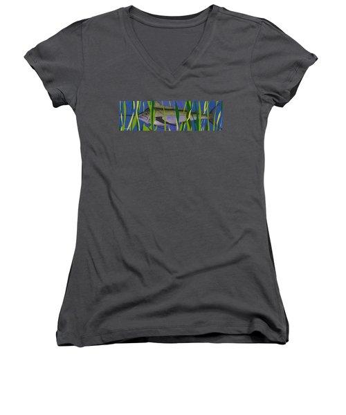 Hiding Spot2 Women's V-Neck T-Shirt (Junior Cut)