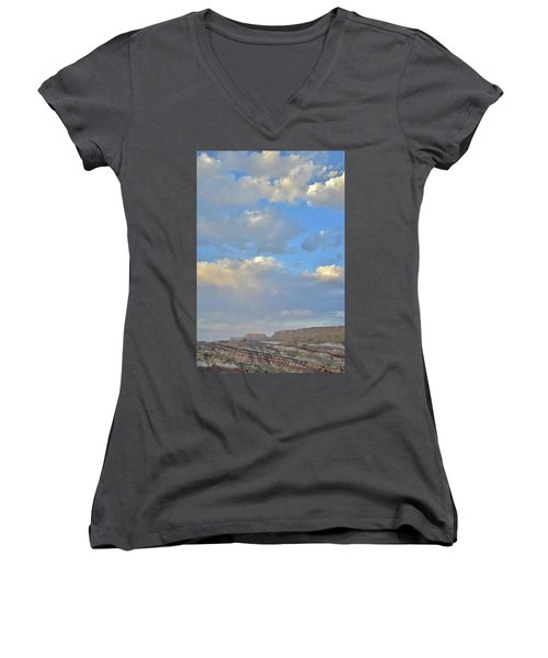 High Clouds Over Caineville Wash Women's V-Neck