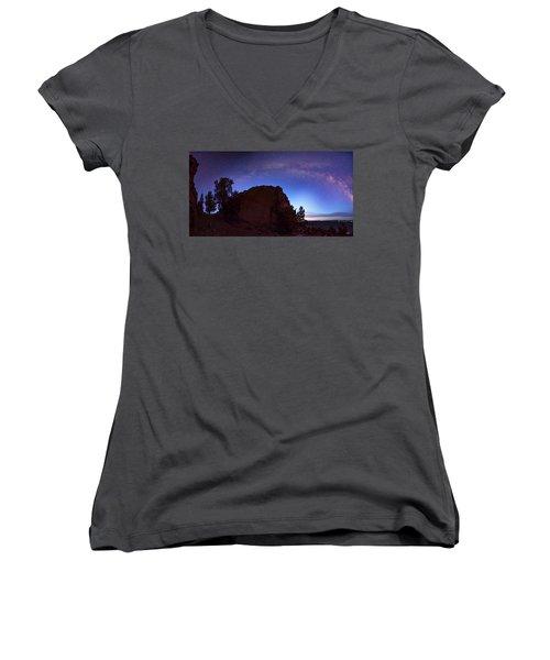 High Desert Dawn Women's V-Neck T-Shirt (Junior Cut) by Leland D Howard