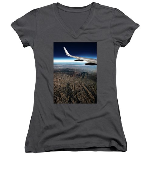 High Desert From High Above Women's V-Neck