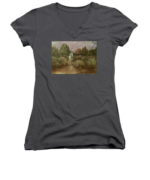 High Desert Runner Women's V-Neck T-Shirt