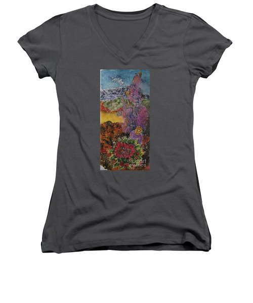 High Desert Spring Women's V-Neck T-Shirt