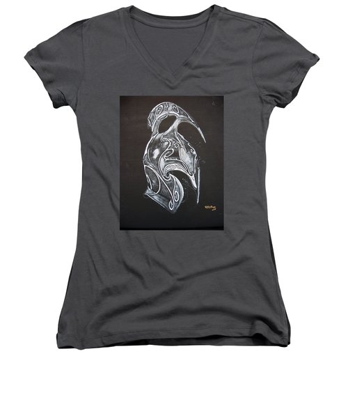 High Elven Warrior Helmet Women's V-Neck