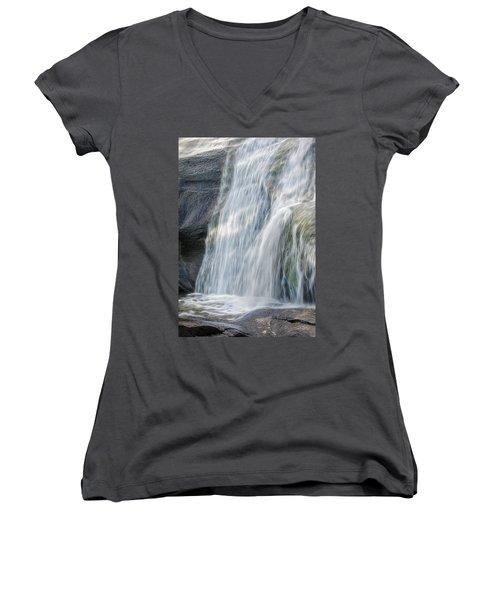 High Falls Three Women's V-Neck T-Shirt (Junior Cut) by Steven Richardson