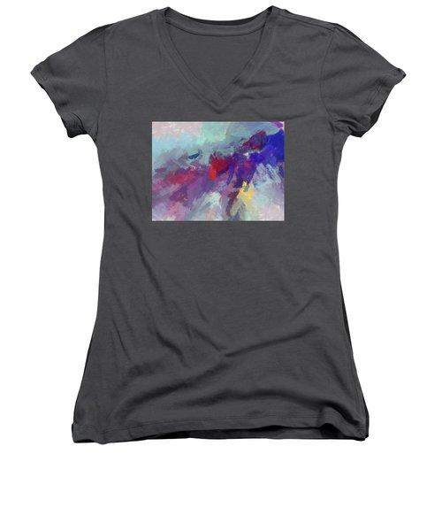 High Flying Kite Women's V-Neck T-Shirt