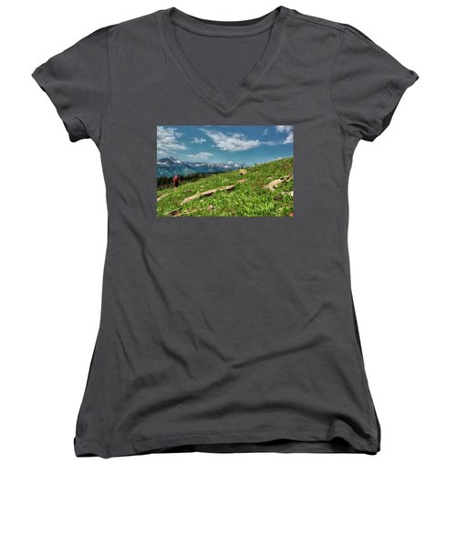 Highline Trail Adventure Women's V-Neck (Athletic Fit)