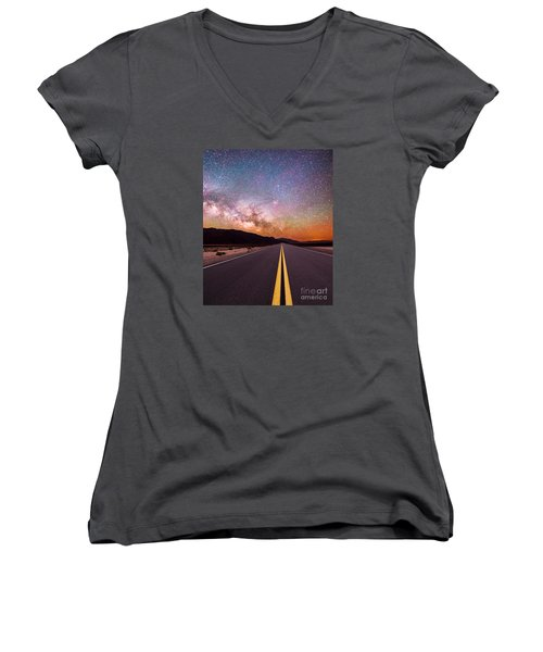 Highway To Heaven Women's V-Neck (Athletic Fit)