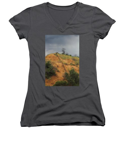 Hill Divided By Fence Women's V-Neck