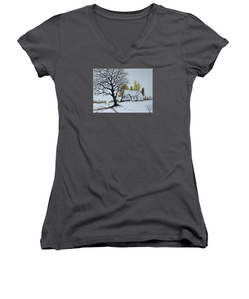 Hilltop Church Women's V-Neck (Athletic Fit)