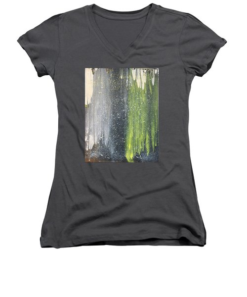 His World Women's V-Neck T-Shirt (Junior Cut) by Cyrionna The Cyerial Artist