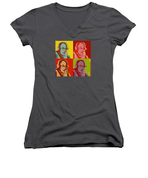 His Holiness The Dalai Lama Of Tibet Women's V-Neck