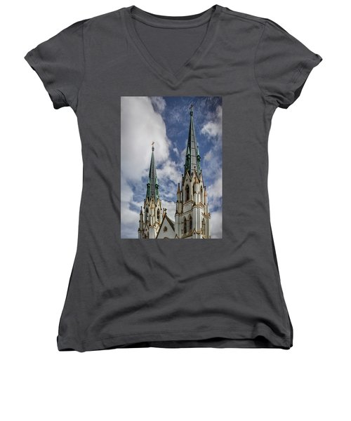 Historic Architecture Women's V-Neck