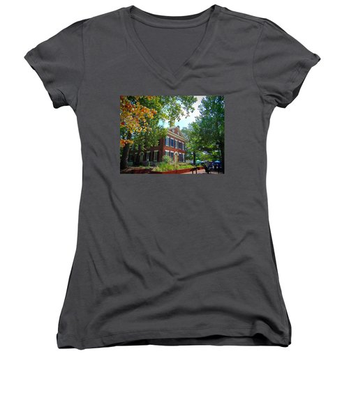 Historic Dahlonega Georgia Courthouse Women's V-Neck