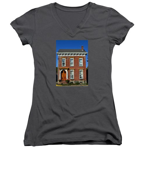Historic Madison Row House Women's V-Neck T-Shirt