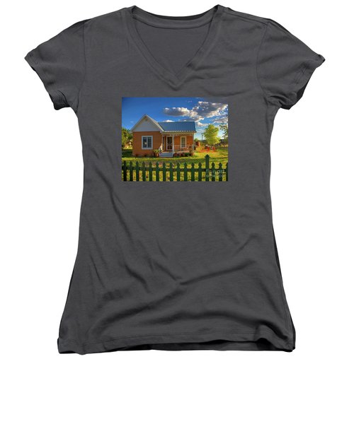Historic Tombstone In Arizona Women's V-Neck T-Shirt