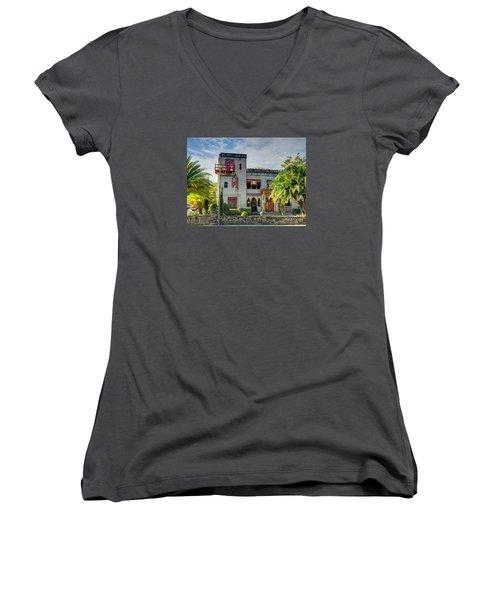 Historic Zorayda Castle Women's V-Neck T-Shirt