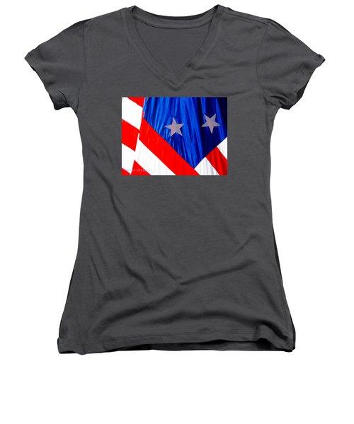 Historical American Flag Women's V-Neck