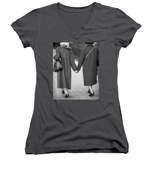 Holding Hands Friends Women's V-Neck