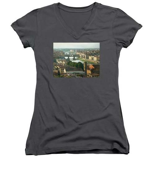 Holding On To Your Love Women's V-Neck T-Shirt (Junior Cut) by Lucinda Walter