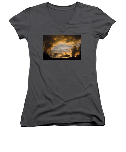 Hole In One Women's V-Neck T-Shirt (Junior Cut) by Kathryn Meyer