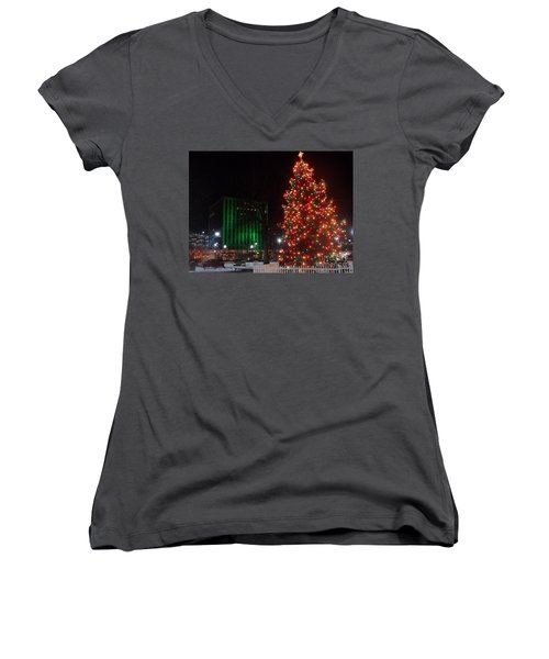 Holidays Downtown Women's V-Neck