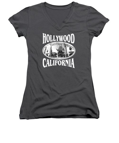 Hollywood California Design Women's V-Neck (Athletic Fit)