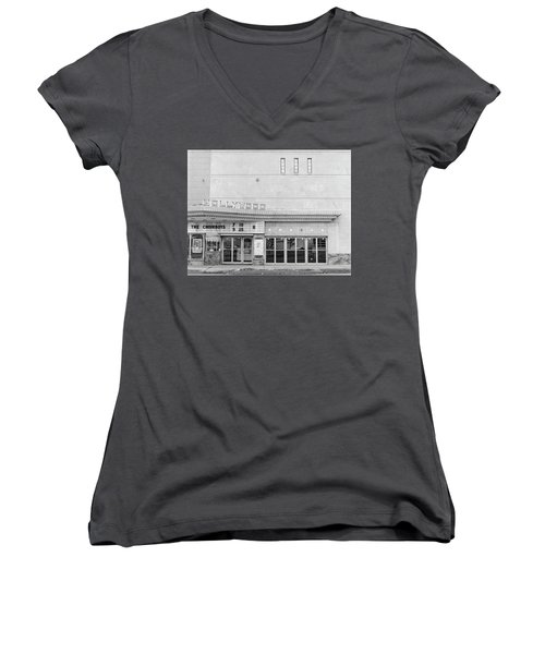 Hollywood Theater Marquee Women's V-Neck
