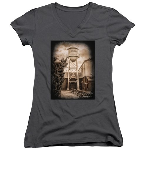 Hollywood Water Tower 2 Women's V-Neck