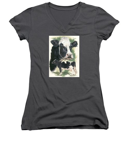 Holstein Women's V-Neck T-Shirt