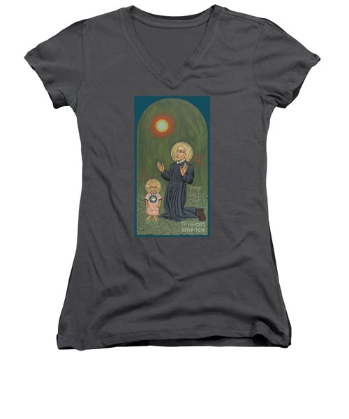 Holy Father Pedro Arrupe, Sj In Hiroshima With The Christ Child 293 Women's V-Neck