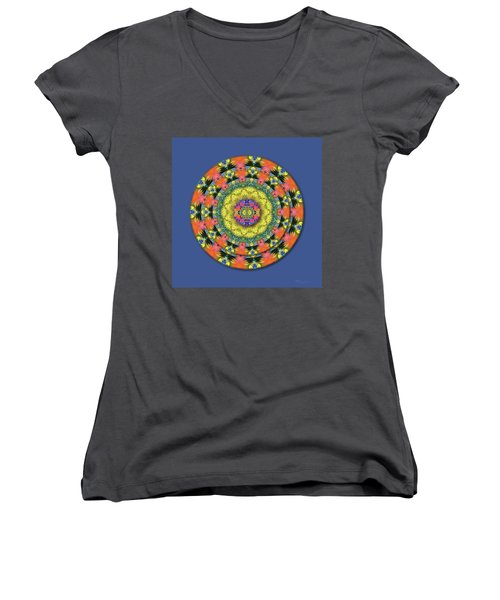 Homage To The Sun Women's V-Neck T-Shirt