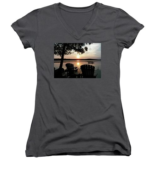 Home From A Paddle Women's V-Neck T-Shirt