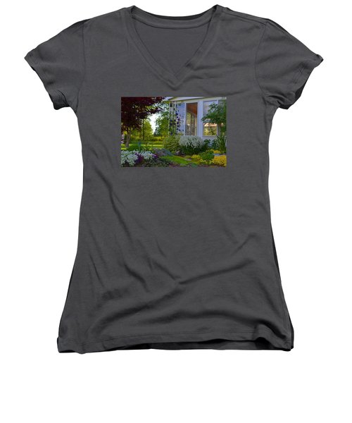 Home Garden Women's V-Neck (Athletic Fit)